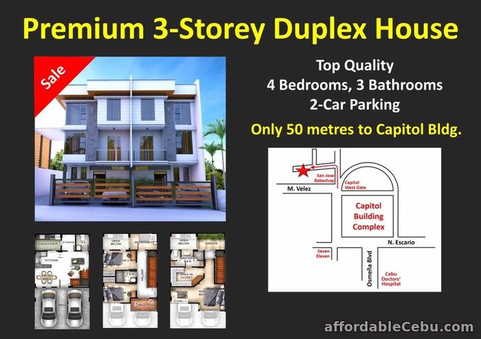 5th picture of Rush 3 Storey House for sale at Capitol Site Cebu City For Sale in Cebu, Philippines