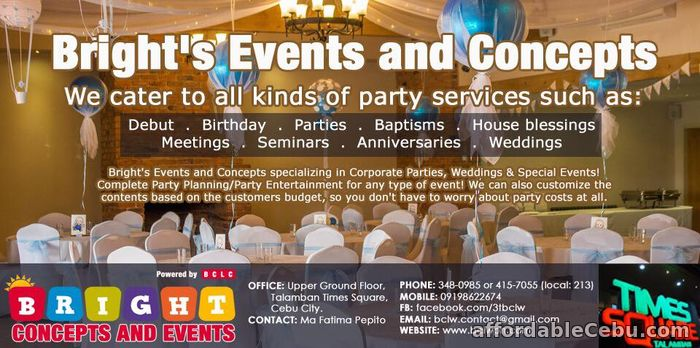 1st picture of BRIGHTS EVENTS AND CONCEPTS Offer in Cebu, Philippines