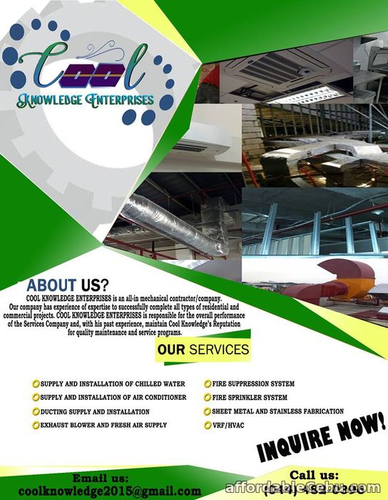 4th picture of Installation of Exhaust and Airconditioning System Offer in Cebu, Philippines