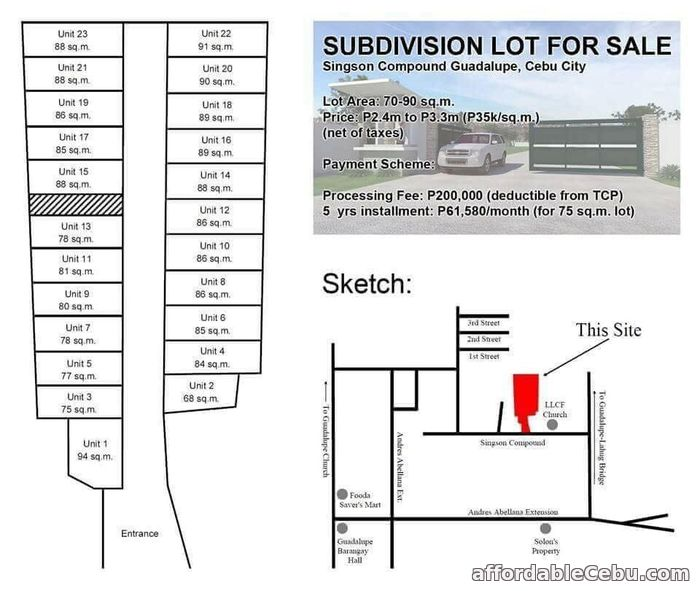 1st picture of REsedential lot for sale in Guadalupe Cebu For Sale in Cebu, Philippines