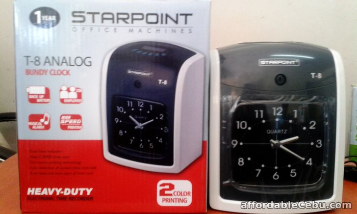 1st picture of STARPOINT T-8 Bundy Clock Attendance and Time Recorder For Sale in Cebu, Philippines