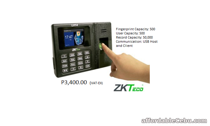 1st picture of ZKTECO LX14  FINGERPRINGT For Sale in Cebu, Philippines