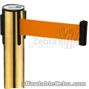 1st picture of Stainless Retractable Stanchion Post Barrier Gold Finish For Sale in Cebu, Philippines