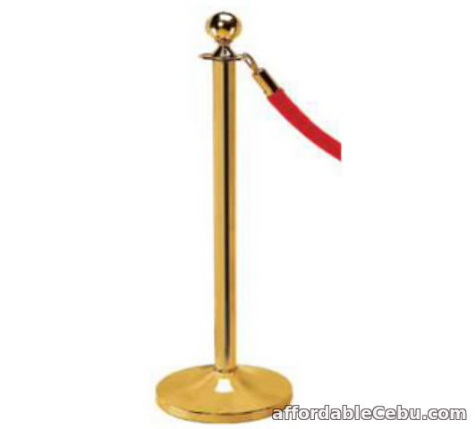 1st picture of Rope Stanchion post Gold Finish For Sale in Cebu, Philippines