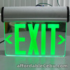 Thermoplastic Emergency Exit Sign Green light