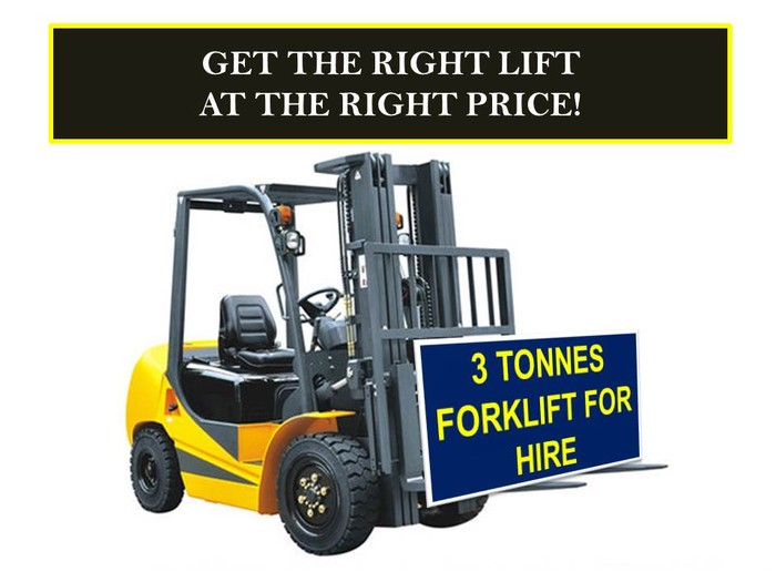 1st picture of 3 tonnes forklift for hire For Rent in Cebu, Philippines