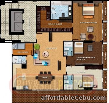 2nd picture of brand new penthouse condo/4 bedrooms/257.34 sqm. Floor area, near cebu city business park ayala For Sale in Cebu, Philippines