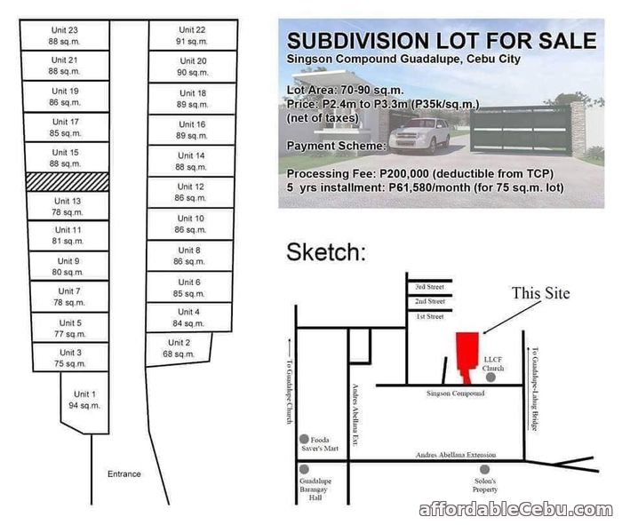 1st picture of Lot For Sale in Guadalupe Cebu City For Sale in Cebu, Philippines
