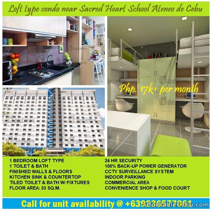 1st picture of Loft type condo for sale near Sacred Heart School Ateneo de Cebu. For Sale in Cebu, Philippines