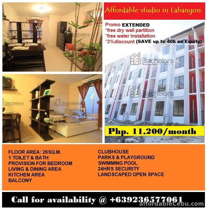 1st picture of Promo EXTENDED for Tisa Labangon studio type condo... For Sale in Cebu, Philippines