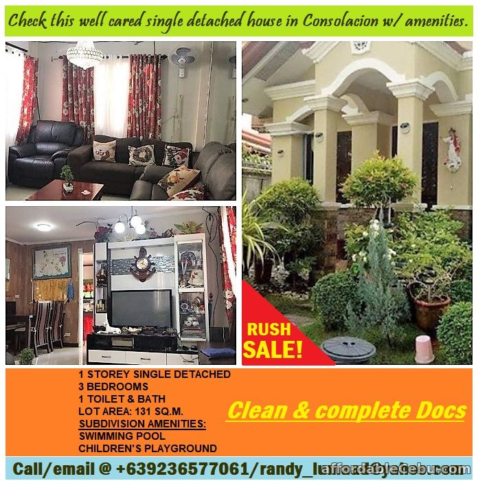 1st picture of RUSH SALE house & lot in Consolacion with Subdivision amenities. For Sale in Cebu, Philippines