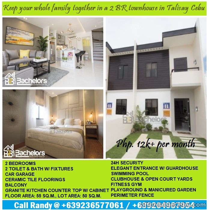 1st picture of Almod Drive offers elegant design townhouse in Talisay for 12k+ per month. For Sale in Cebu, Philippines