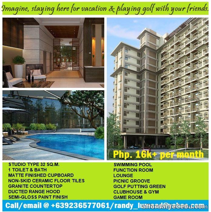 1st picture of Grab the opportunity to own this on-going development condo w/ golf course For Sale in Cebu, Philippines