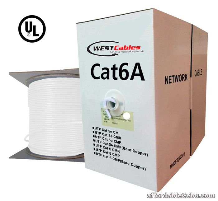 1st picture of Cat6A Plenum 1000ft Solid Copper UTP Ethernet Cable For Sale in Cebu, Philippines