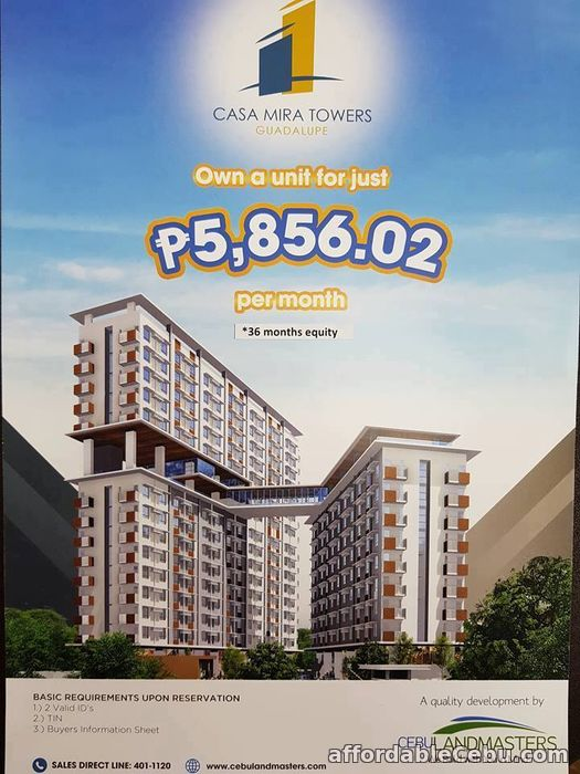 1st picture of As low as P5,856 a month on equity Have your address in the heart of the City GUADALUPE, Cebu City For Sale in Cebu, Philippines