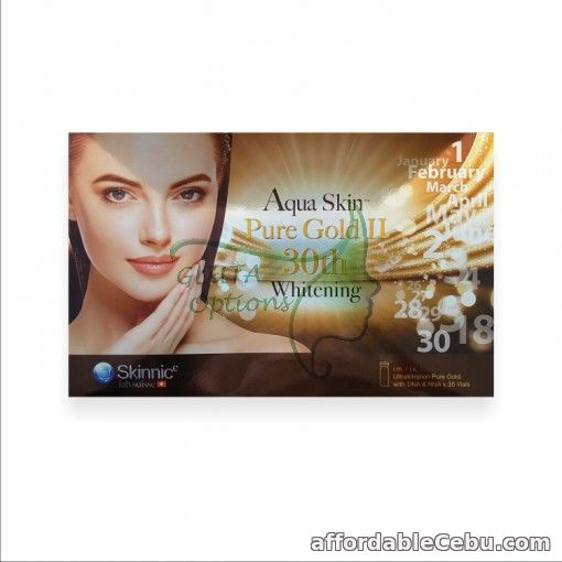 1st picture of PROMO: NEW Aquaskin Puregold II 30th Whitening from Switzerland (30 vials) For Sale in Cebu, Philippines