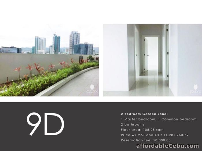 5th picture of Condo Unit 2 Bedroom Garden in Calyx Residences Ayala Cebu For Sale in Cebu, Philippines