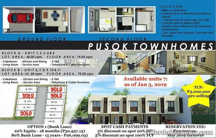 3rd picture of Townhouse 2 Storey in Pusok Lapu-Lapu For Sale in Cebu, Philippines