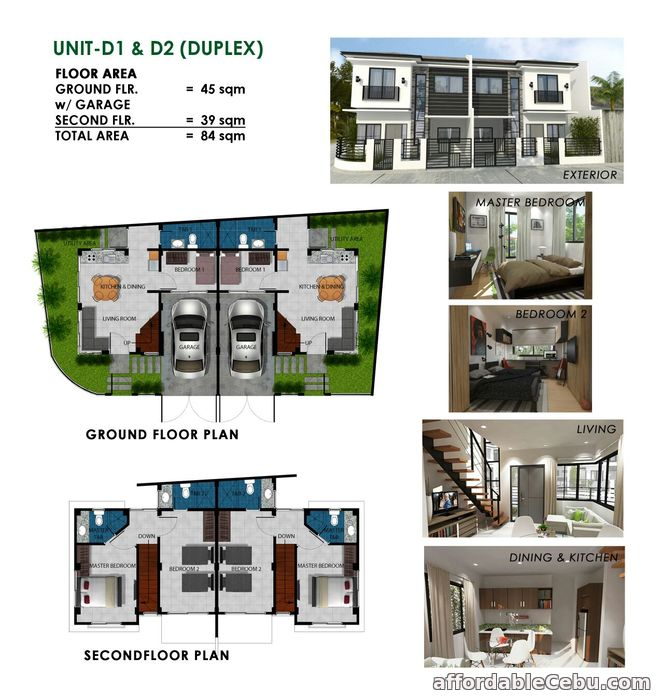 2nd picture of 7th Avenue Drive Residences - Duplex type House For Sale in Cebu, Philippines