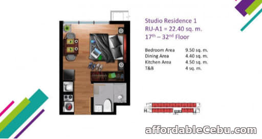 5th picture of FOR SALE STUDIO RESIDENTIAL UNIT IN VERTEX CENTRAL , CEBU CITY. For Sale in Cebu, Philippines