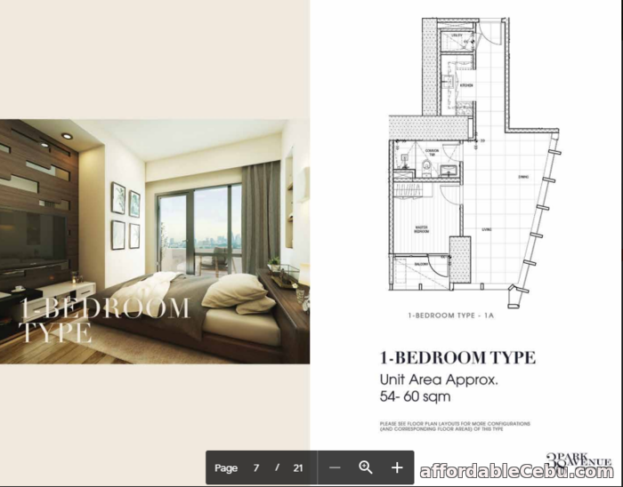 4th picture of One Bedroom Unit @38 Park Avenue For Sale in Cebu, Philippines