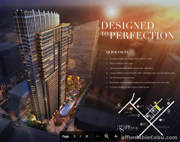 2nd picture of Lower Penthouse - 37C - PENTHOUSE CONDO IN 38 PARK AVENUE CEBU CITY For Sale in Cebu, Philippines