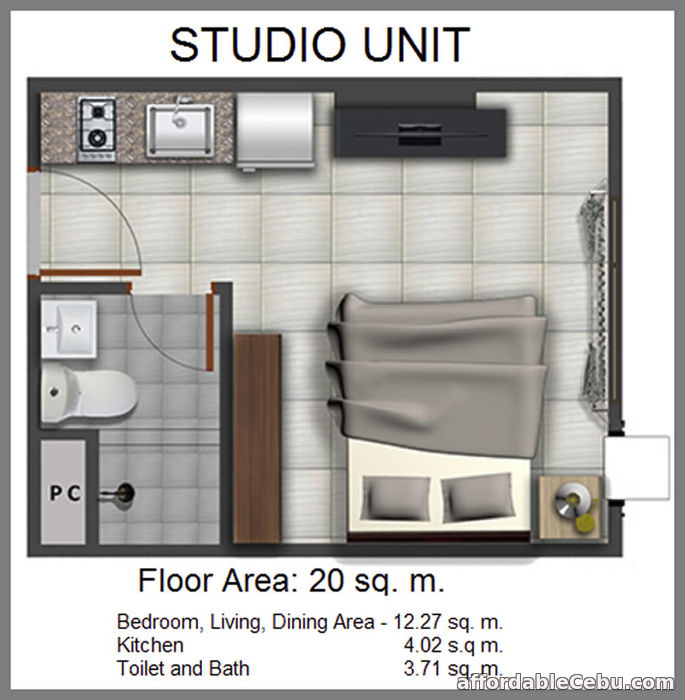 3rd picture of Casa Mira Towers Studio Unit For Sale in Cebu, Philippines