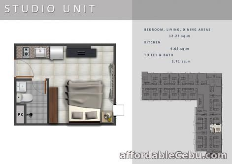 2nd picture of Studio Unit for Sale - Casa Mira Towers Guadalupe For Sale in Cebu, Philippines