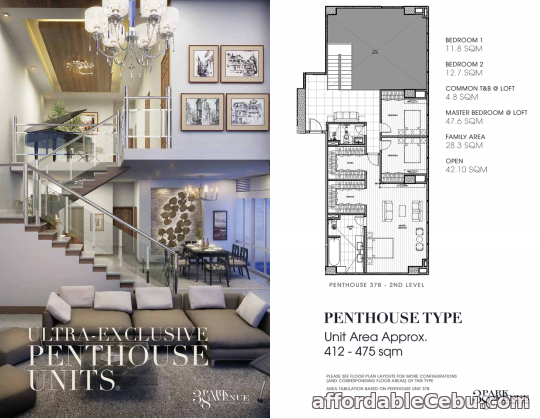 2nd picture of Penthouse Condo For Sale 38 Park Avenue in Cebu For Sale in Cebu, Philippines