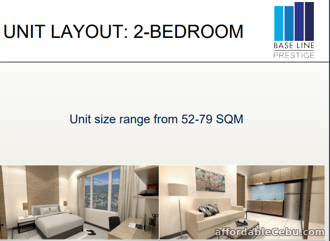 1st picture of 2 BR Unit for Sale - BASELINE PRESTIGE RESIDENCES CEBU CITY PHILIPPINES For Sale in Cebu, Philippines