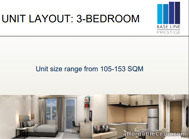 2nd picture of 3 Bedroom Condo for sale in Baseline Residences, Cebu City, Cebu For Sale in Cebu, Philippines