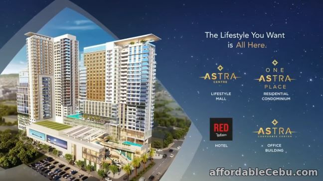 1st picture of 28.29 sq m studio unit type at ASTRA PLACE For Sale in Cebu, Philippines