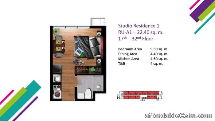 3rd picture of Studio Unit for Sale at Vertex Central in Cebu City For Sale in Cebu, Philippines