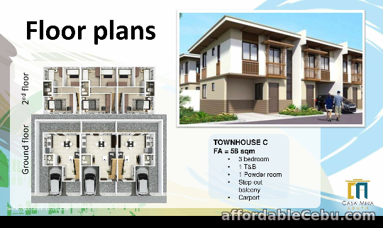 3rd picture of For Sale Casa Mira Townhouse C2 Phase2A For Sale in Cebu, Philippines