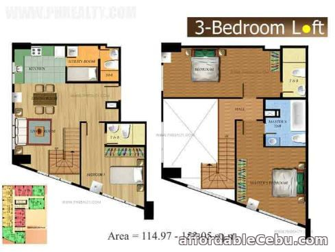 1st picture of 3 Br with 105.86 sqm flr area at base line Prestige For Sale in Cebu, Philippines