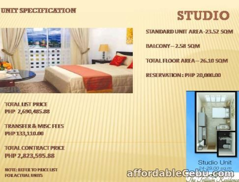 1st picture of Studio unit at The Trillium Residence For Sale in Cebu, Philippines