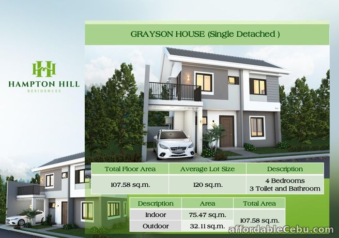 1st picture of Hampton Hill Residences - Grayson House (Single Detached) For Sale in Cebu, Philippines