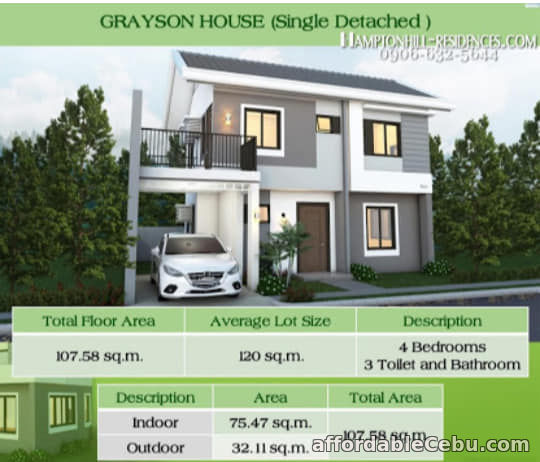 2nd picture of Hampton Hill - Grayson House ( Single Detached ) For Sale in Cebu, Philippines