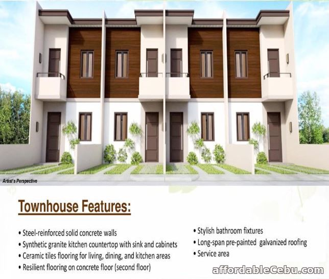 1st picture of 2 storey townhouse with 2BR and 2 T/B at Almond Drive For Sale in Cebu, Philippines