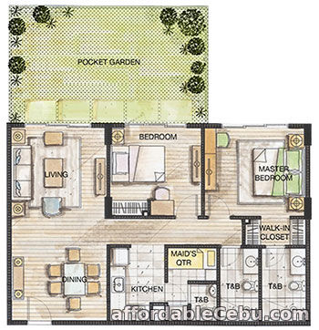 2nd picture of 2 Bedrooms for Sale - 32 Sanson by Rockwell For Sale in Cebu, Philippines
