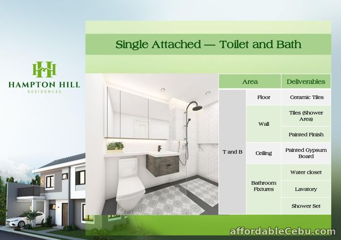 4th picture of Clarke House (Single Attached) - Hampton Hill Residences For Sale in Cebu, Philippines