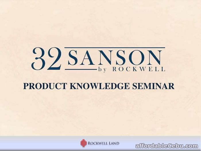 3rd picture of 2BR @ 32 Sanson by Rockwell For Sale in Cebu, Philippines