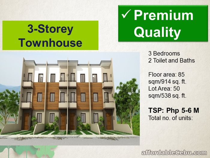 3rd picture of 3 Storey Townhouse for Sale - Mulberry Drive For Sale in Cebu, Philippines