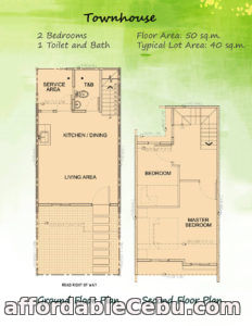 2nd picture of 2-Storey Townhouse - Garden Bloom South For Sale in Cebu, Philippines