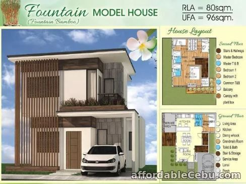 1st picture of Two-Storey -Fountain Bamboo Model at Bamboo Bay Residence For Sale in Cebu, Philippines