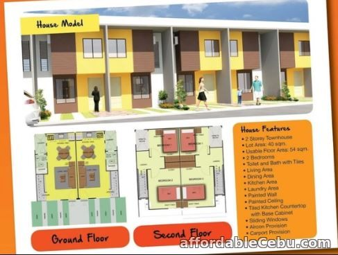 1st picture of Complete/Finished 1 Storey Townhouse at SweetBerries Community For Sale in Cebu, Philippines