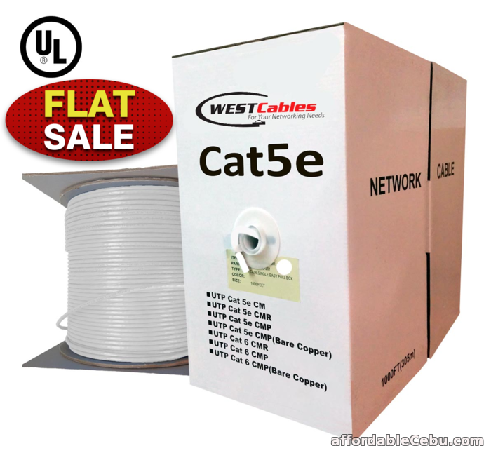 1st picture of Cat5e Riser Pure Copper UL Certified 1000ft Cable For Sale in Cebu, Philippines