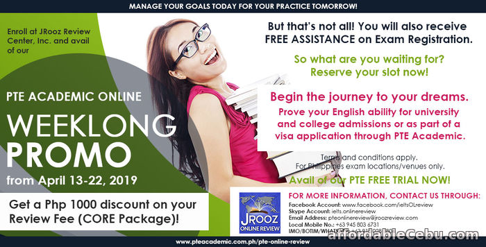 1st picture of JROOZ PTE Academic Online Weeklong Promo – April 13 to 22, 2019 Offer in Cebu, Philippines