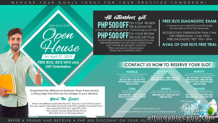 1st picture of IELTS and OET OPEN HOUSE on April 27, 2019 Offer in Cebu, Philippines