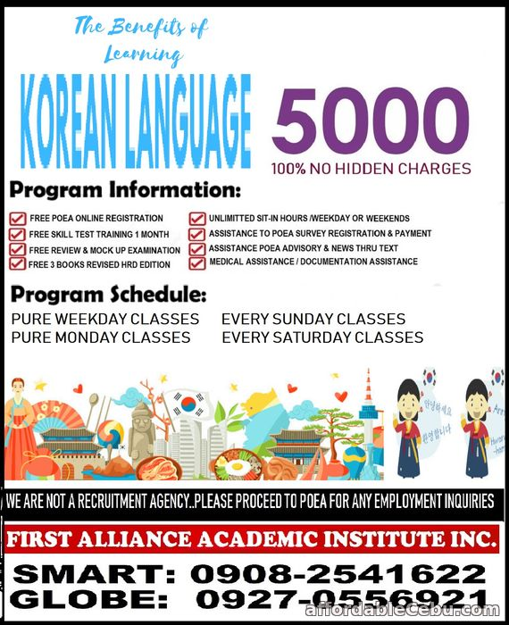 3rd picture of LEARN KOREAN LANGUAGE Offer in Cebu, Philippines